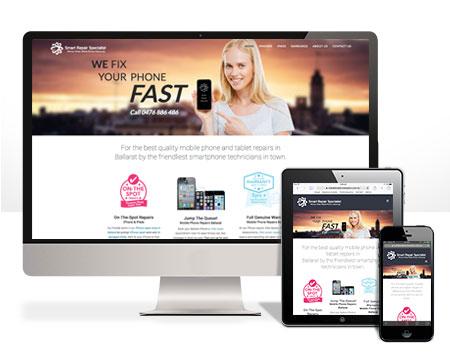 iphone repair website ballarat by Lateral Design