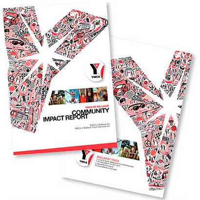 Graphic design Annual-report-Ballarat-Lateral-design-group